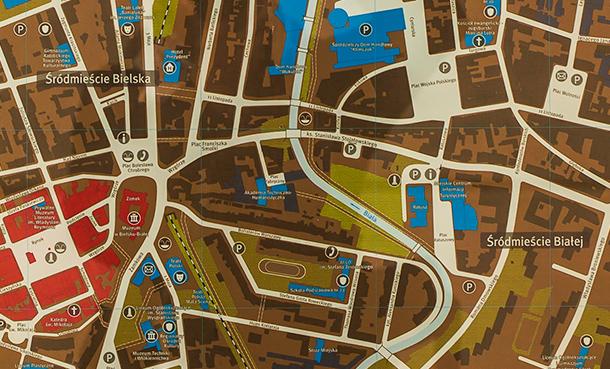 plan mapa Bielska-Białej