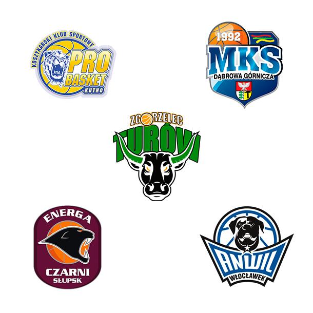 Logo klubów koszykarskich
