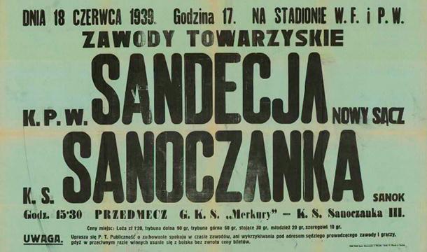 Sandecja Nowy Sącz plakat