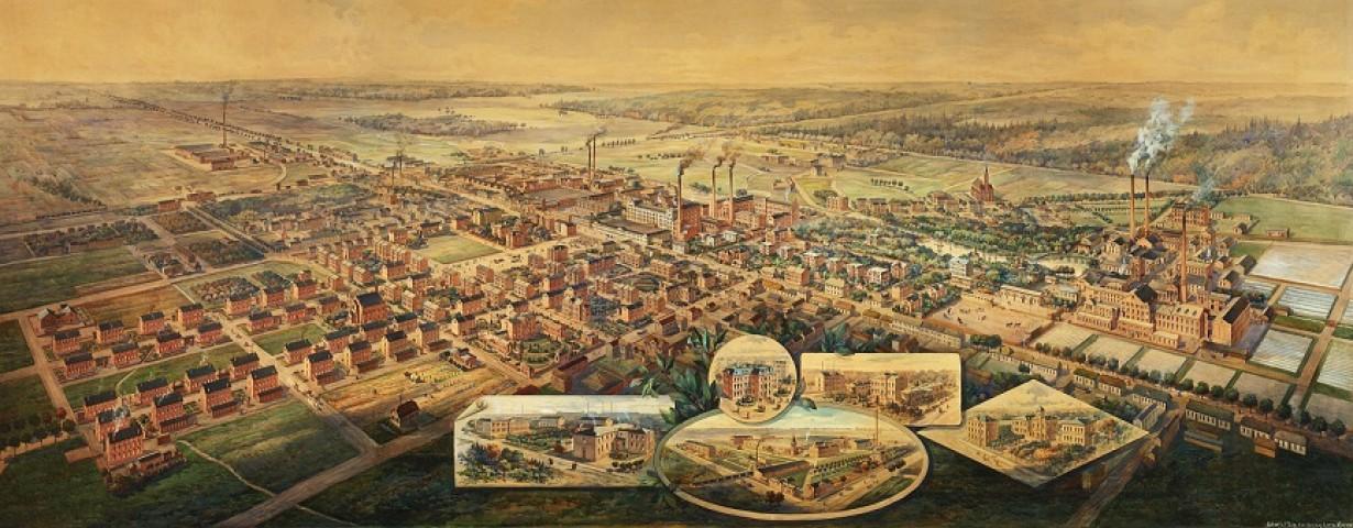 Dawna panorama Żyrardowa