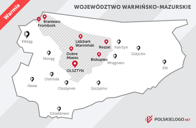 Mapa Warmii