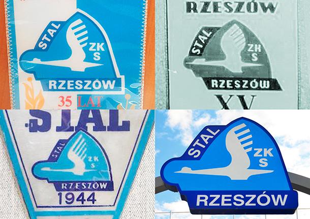 Stal Rzeszów stare herby klubu