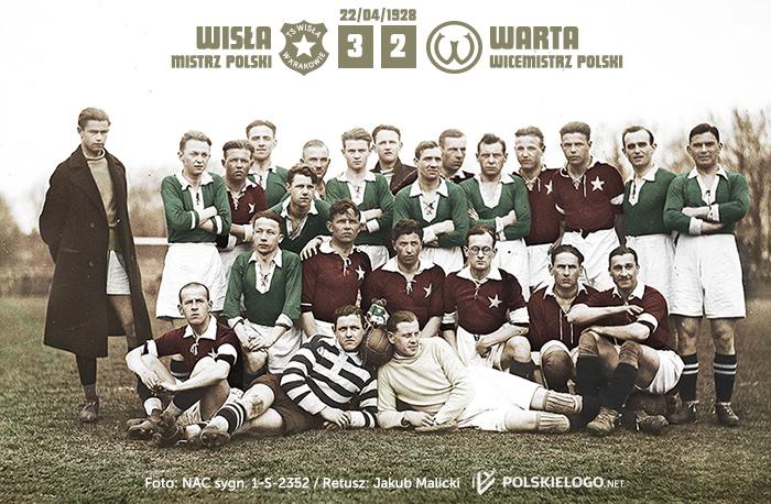 Wisła Kraków i Warta Poznań w 1928
