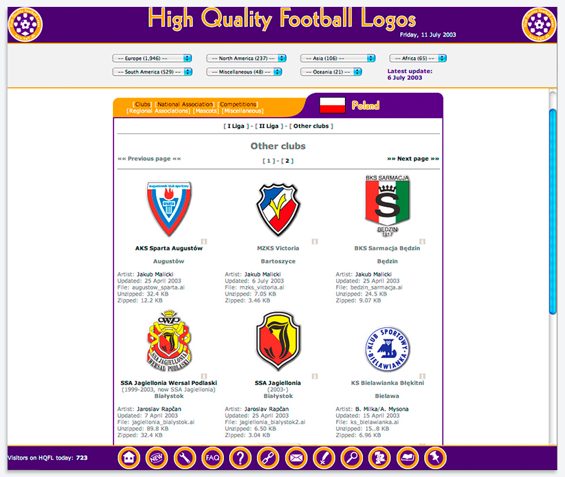 High Quality Football Logos