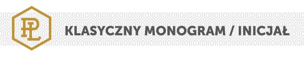 Monogramy sportowe / klasyczny monogram