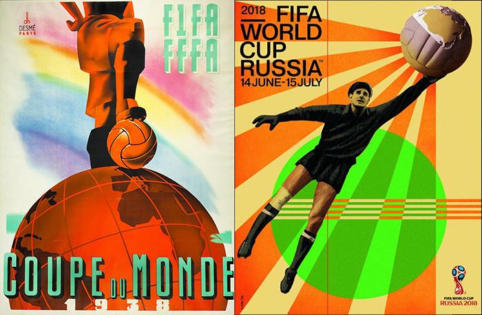 Plakaty mundialowe 1938 / 2018