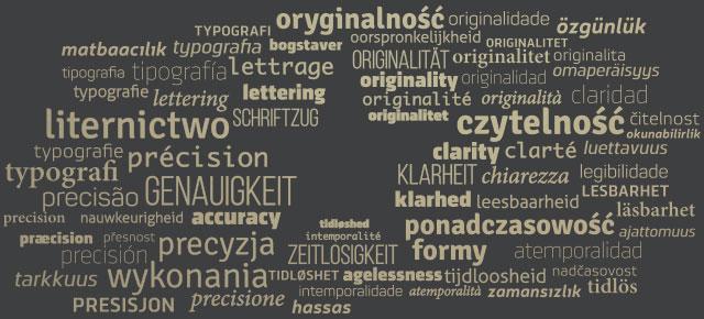 oryginalność, originality, Originalität, originalité, originalità, originalitet, originalidad, oorspronkelijkheid, originalita, omaperäisyys, originalidade, originalitet, originalitet, czytelność, clarity, Klarheit, clarté, chiarezza, klarhed, claridad, leesbaarheid, čitelnost, luettavuus, legibilidade, lesbarhet, läsbarhet, okunabilirlik, precyzja wykonania, accuracy, Genauigkeit, précision, precisione, præcision, precisión, nauwkeurigheid, přesnost, tarkkuus, precisão, presisjon, precision, hassas, özgünlük, liternictwo, lettering, Schriftzug, lettrage, lettering, bogstaver, tipografía, typografie, typografie, typografia, tipografia typografi, typografi, matbaacılık