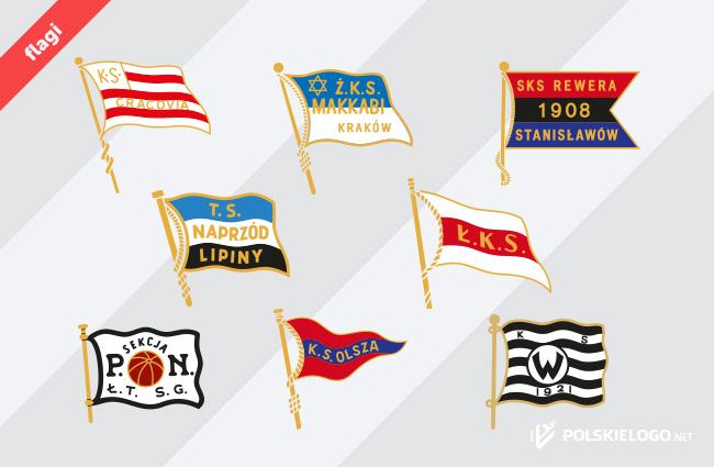 Przedwojenne znaki w kształcie flagi